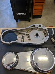 Arlen Ness Softail Billet Inner And Outer Primary Chrome 90s Ball Mill Rare