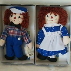 Raggedy Ann And Andy Awake Asleep Doll Character Goods Plush Doll Toy Size 30 Cm
