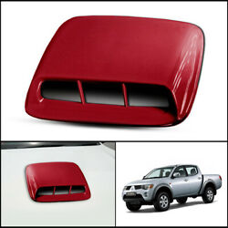 Red Front Bonnet Hood Scoop Cover For Mitsubishi Triton L200 Mn Ml 2005-2014