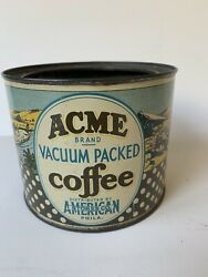Vintage, Acme Coffee Can, No Lid,