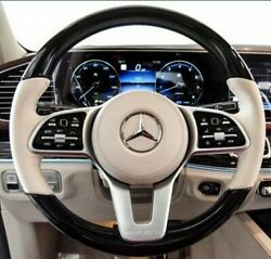 Mercedes-benz Oem X290 X463 W167 C190 Amg Piano Black And Leather Steering Wheel