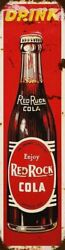 Drink Red Rock Cola Soda Pop Bottle 20 Tall Heavy Duty Usa Made Metal Adv Sign