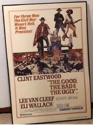 The Good The Bad And Ugly Vintage Movie Poster Clint Eastwood Original1966 Sheet