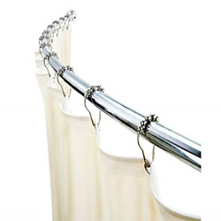 Wall Mounted Adjustable Curved Bathroom Shower Curtain Rod 42andrdquo