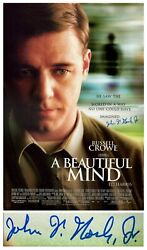 John Nash Signed Movie Poster For A Beautiful Mind