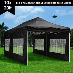10and039x10and039/20and039 Ft Party Canopy Tent Outdoor Gazebo Heavy Duty Pavilion Event