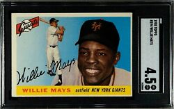 1955 Topps 194 Willie Mays Hof San Francisco Giants Sgc 4.5 Vg-ex+ Awesome