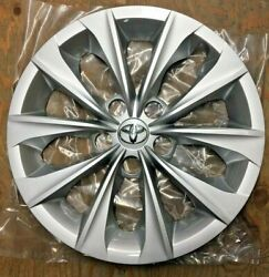 1x 16 10-spoke Silver Hubcap Wheelcover Fits Toyota Camry 2015 2016 2017