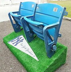 ⚾2 Yankee Stadium Seats Original Paint Jeter Mattingly Judge Mantle Ruth Gehrig⚾