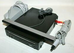 Nintendo Wii Console Rvl-101 Black Gaming Console W/power Supply And Cables Tested