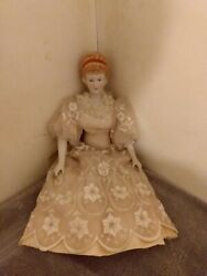 Antique/vintage Porcelain/bisque China Doll. Head, Hands And Legs Are...