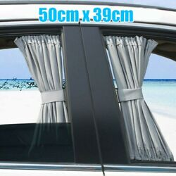Pair Car Curtain Sun Blinds Shade Mesh Sunshade Shield Visor Block Kids