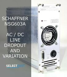 Schaffner Nsg603a Ac/dc Line Dropout And Variation Simulator Look Ref. G