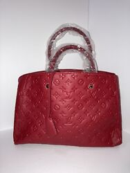 red purses and handbags leather $220.00
