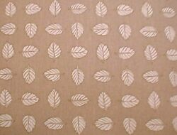 Longaberger Rare Retired Stone Leaf Fabric - New - 5 Yards Uncut- Shop Our Store