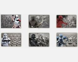 Star Wars Guards Of The Empire 1oz Silver Coin - Complete Collection - Bar Set