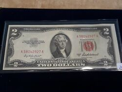✯ 1953 A Two Dollar Note Red Seal ✯2 Bill ✯us Currency✯old Money✯