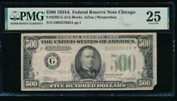 Ac 1934a 500 Five Hundred Dollar Bill Chicago Pmg 25 Comment