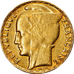 [906968] Coin France Bazor 100 Francs 1935 Paris Ef40-45 Gold Km880