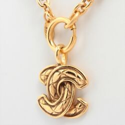 Coco Mark Matelasse Necklace Gold Plated Gold