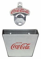 Coca-cola Wall Mount Bottle Opener With Cap Catcher - Fast Delivery