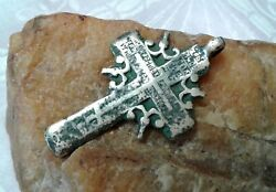 Antique C.1700s Large Silver Old Believers Orthodox Sun Cross The Keeper