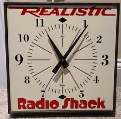 Vintage 1960's Radio Shack Realistic Promotional Advertising Wall Clock Lux Usa