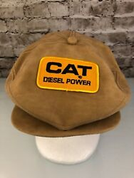 Caterpillar Suede Flat Snap Hat Cap Diesel Power New/old Stock K Product Vintage