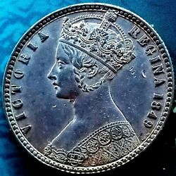 1849, Great Britain Godless Gothic Florin, Sp 3890 Beautiful Example.
