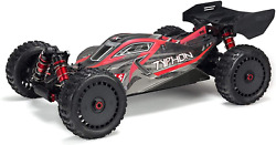 Arrma Rc Car 1/8 Typhon 6s V5 4wd Blx Buggy With Spektrum Firma Rtr Black And