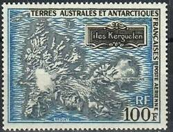 French Southern Antarctic Territories Stamp - Map Of Kerguelen Island Stamp - Nh