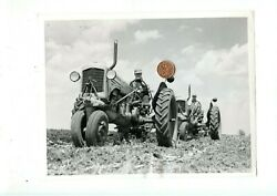 Vintage 1950s Press Photograph Two Tractors In Action A1 Free Shipping