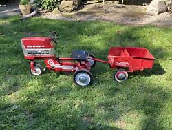 Antique Vintage 1960's Murray Pedal Tractor With Dump Trailer