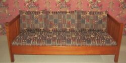 Stickley Cherry Mission Collection Spindle Arts Crafts Sofa No Longer Produced