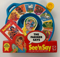 See Nand039 Say Mattel The Farmer Says Animal Sounds Vintage New In Box Bibrage1993