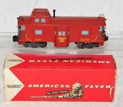 Clean American Flyer 935 Deluxe Bay Window Caboose Lighted 1957 In 24618 Box