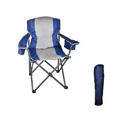 Lightweight Camping Chair 350lbs - Steel Frame Folding Camp Chair With Carry Bag