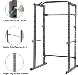 Power Squat Rack Multi-function Power Cage Rack Weightlifting Workout 1000 Lbs