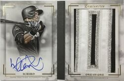 Limited To 1/1 Piece Ichiro Direct Write Sign Actual Use Jumbo Patch 2018 Topps