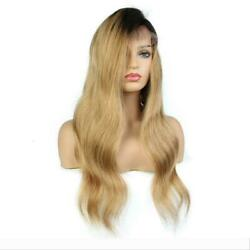 Straight Brazilian Glueless Full Lace/lace Front Wig Virgin Hair 150/180 1b/27