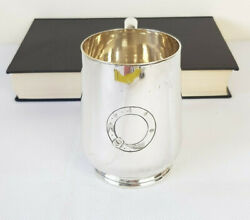Antique Victorian Engraved Silver Plated Tankard R.m Johnson And Co Sheffield 1880