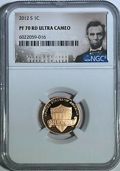 2012 S Ngc Pf70 Rd Ultra Cameo Proof Lincoln Shield Cent Penny 1c .01 C
