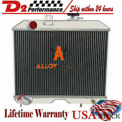 Cc5241 3 Row Aluminum Radiator For Jeep Willys Mb Cj-2a M38 And Ford Gpw 1941-1952