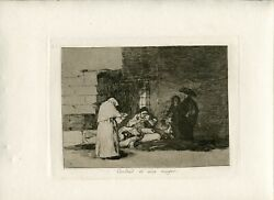 Charity In One Muger Engraved Goya's No 49 Of The First Edition Of Los Disaster