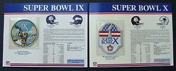 5 Pittsburgh Steelers Nfl Super Bowl Ix X Xiii Xiv Xl Patches Willabee And Ward