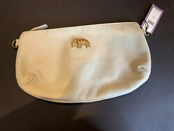 Anthropologie Sous Les Paves Ivory Leather Elephant Clutch Crossbody Nwt 308