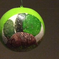 Gourd Ornament With Armadillo