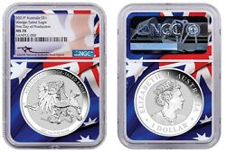 Australia 2021 Silver Wedge Tailed Eagle Ngc Ms70 First Day Of Production John M