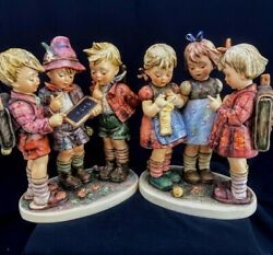 Rare Xl Goebel Hummel School Boys 170/iii And School Girls 177/iii Set Tmk5