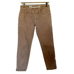 Madewell Light Cocoa Taupe Denim Ankle Zip Jeans - Size 26
